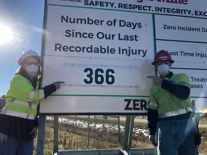 Eagle Mine Recognizes Employees for Reaching a Safety Milestone
