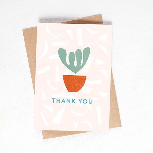 thank you card - pot plant