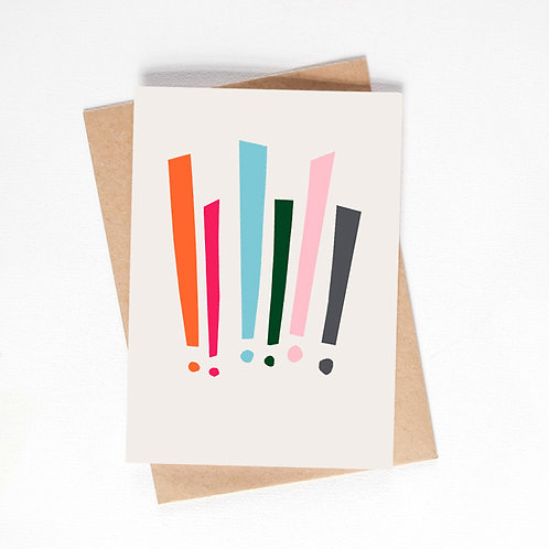 exclamation marks card