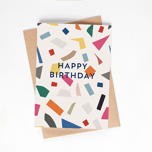 happy birthday card - party pattern