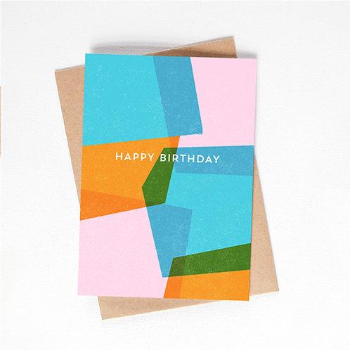 happy birthday card - multicolour