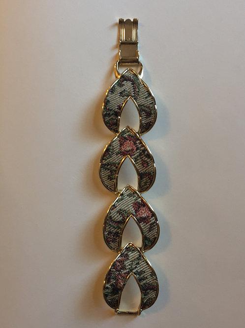 Floral Fabric Link Bracelet