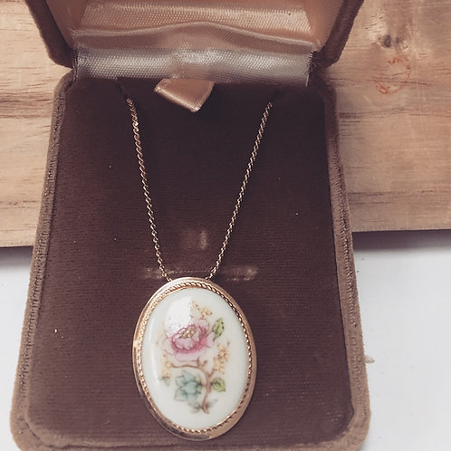 Pretty pastel Lenox China pendant