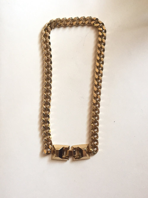 Gold toned chain choker