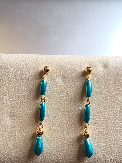 Vintage dangling stud earrings