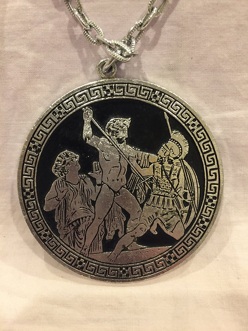 Large Pendant with Roman scenes scenes front and back