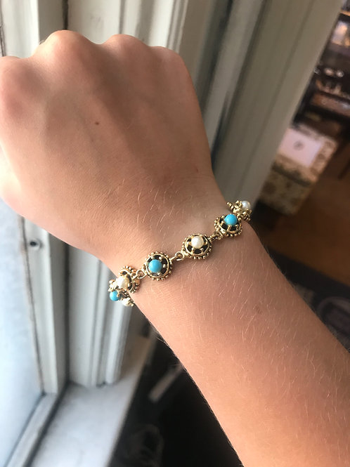 Blue & White Bracelet