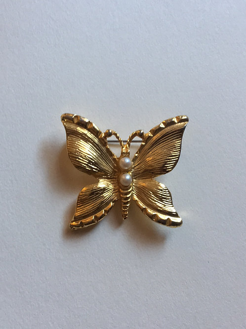Gold toned Butterfly Pin