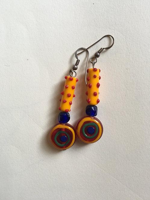 Handmade glass earrings