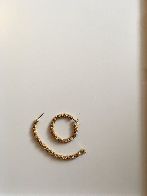 Gold plated rope hoops