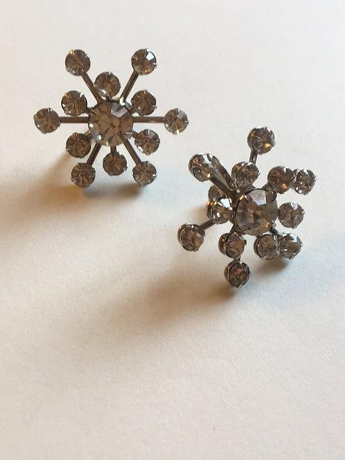 Vintage snow flake earings
