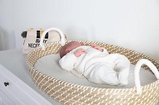 Baby in Childhome rieten verschoningsman