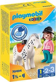 PLAYMOBIL 1.2.3 Reiterin mit Pferd