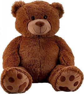 Pluche Beer 100cm - Teddybeer 100cm - Knuffelbeer - Beer pluche XXL - Donkerbruin - met Kr