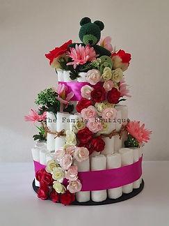 Luiertaart full flowers pink bloemen.jpg
