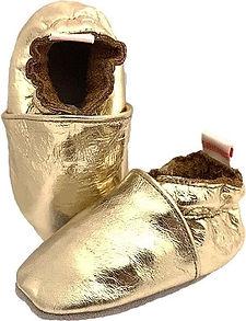 BabySteps slofjes Plain Gold.jpg