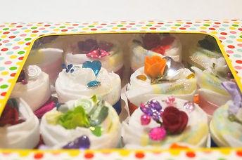 Luiertaart - Pampertaart Meisje Cupcake