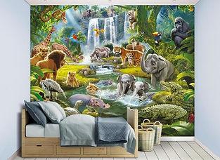 Kinderkamer behang jungle dieren.jpg