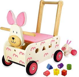 I'm Toy Loop-duwwagen Konijn - Roze.jpg