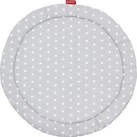 Bopita Rondo runde Laufgittereinlage grau mit Sternen