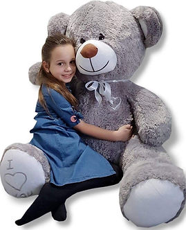 Grote knuffelbeer grijs 160cm XL I Love You-min.jpg