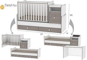 Trend Plus Lorelli combi ledikant 5 in 1 met schommel functie Babykamer white.jpg