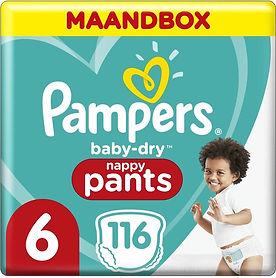Pampers baby-dry pants luierbroekje maat 6 116 stuks