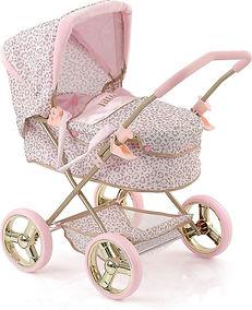 Hauck Little Diva Poppenwagen luipaard roze-min.jpg