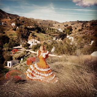 Flamenco dress yoga