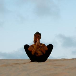 Yoga on the dune