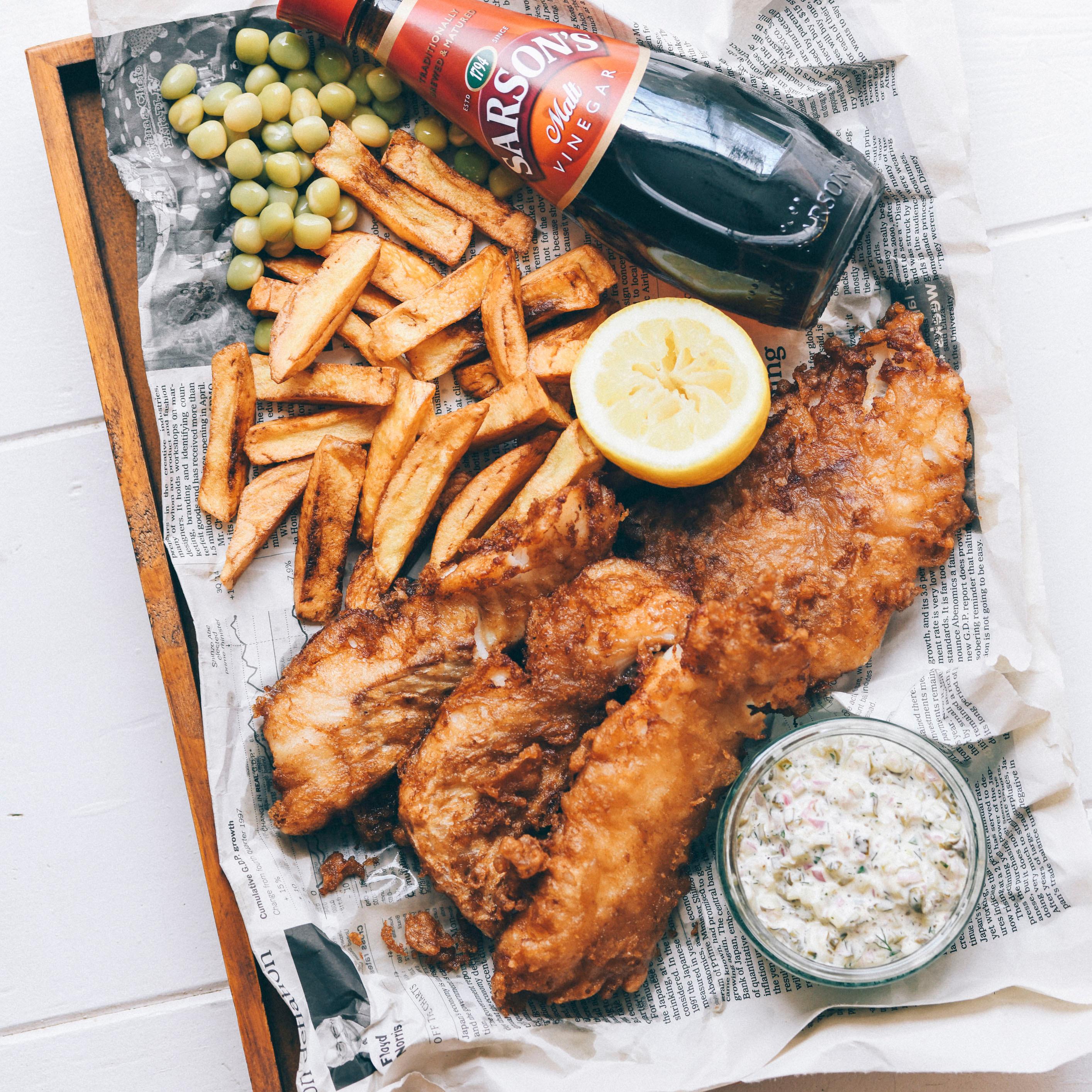 イギリスを代表する料理の一つ「フィッシュ アンド チップス」