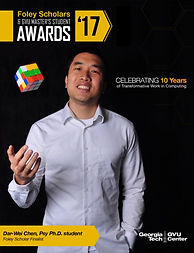 Foley Scholars magazine cover with Dar-Wei Chen