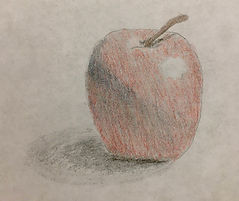 Sketch of an apple