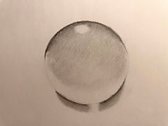 Sketch of a water droplet