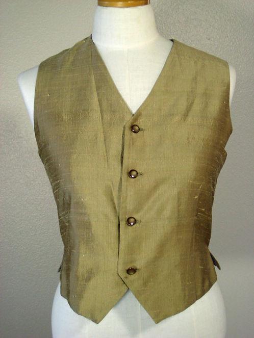 Custom Gold Silk Vest - Ladies 10