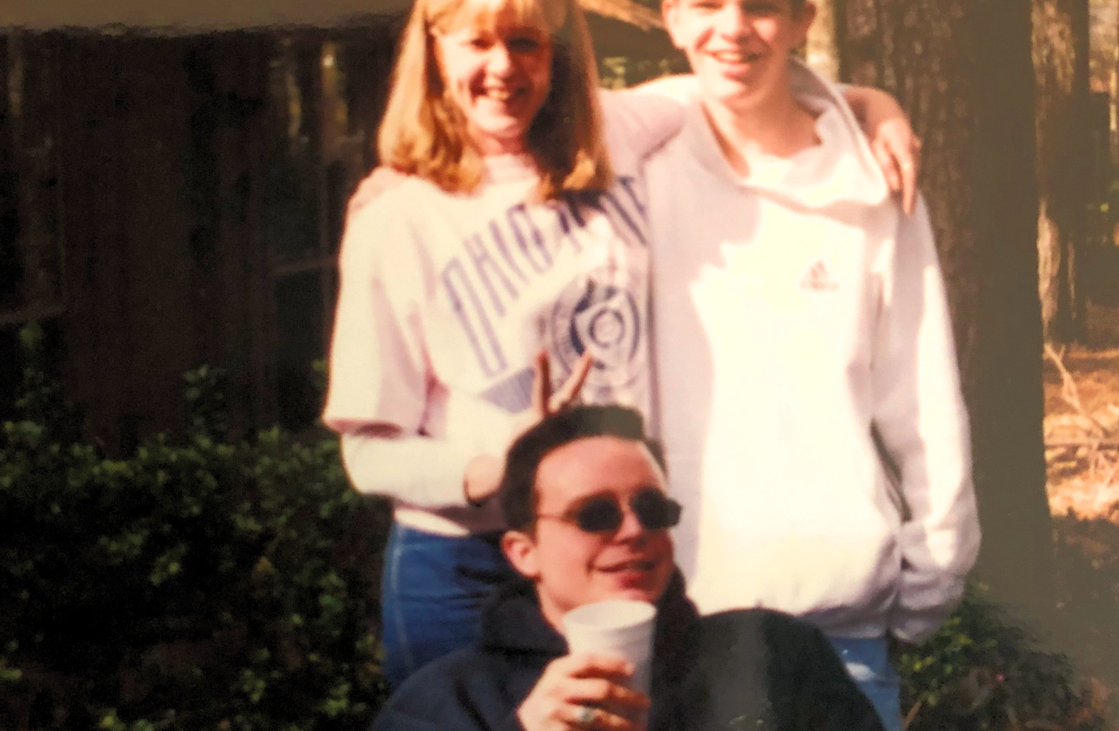My mom, Jeremy, and Bob. All three are gone. Give a group hug for me up there.