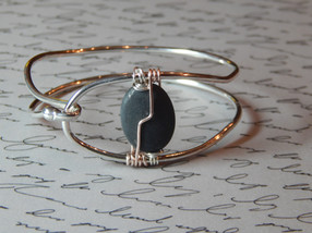 Night Lightning - river stone and sterling silver
