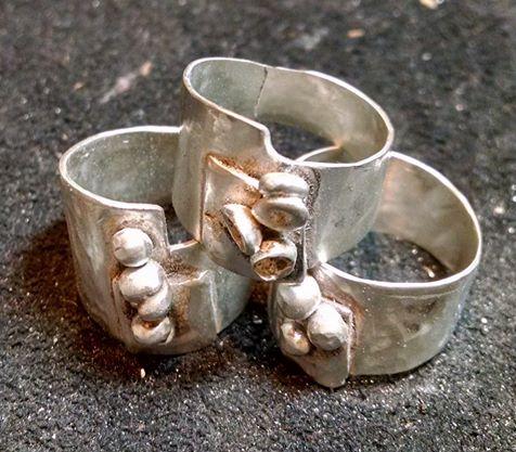 Three rough rings