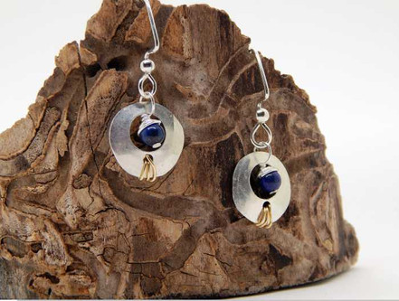 Blue Moon - lapis and sterling