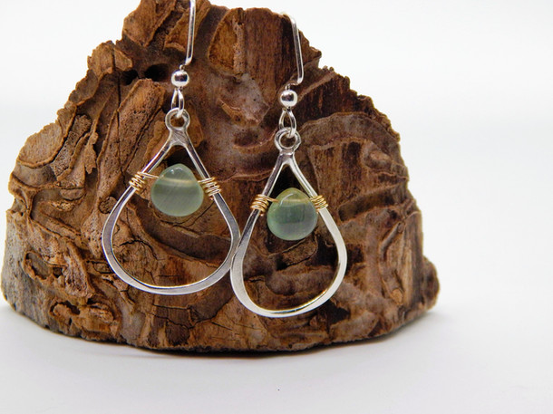 Drops of sky - aquamarine & sterling silver