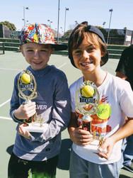 Underserved children in San Diego play tennis