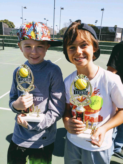 Underserved children in San Diego play tennis