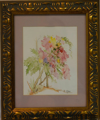 Pink Vine with Tree - Painting