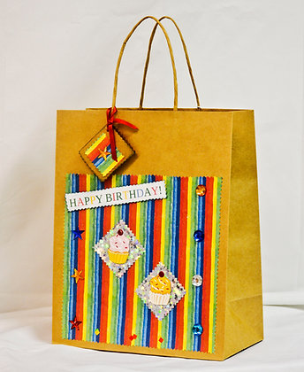 Scrapbooked Gift bag - Large