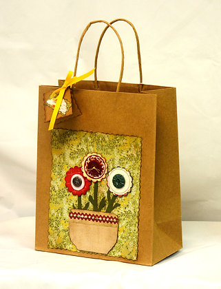 Scrapbooked Paper Gift Bag - Medium
