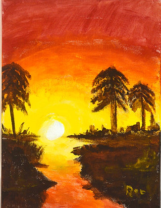 Southern Sunset - Painting
