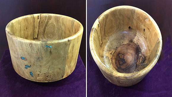 Bowl with Turquoise Accent