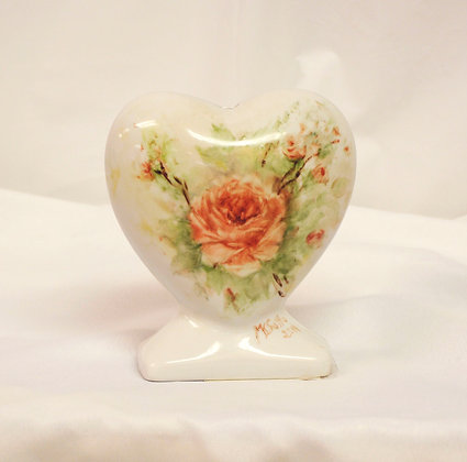 China Painted Heart Rose