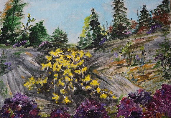 Yellow Leaves - Painting