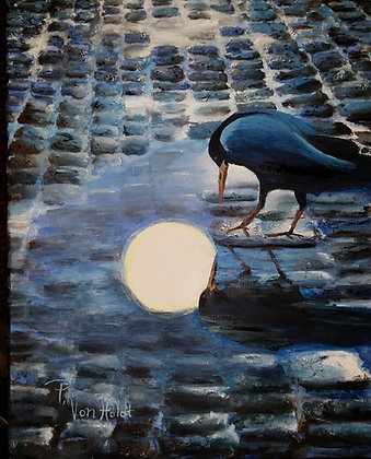 Blackbird Looking for Shine - Oil